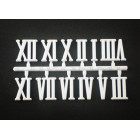 Algarismo Romano completo XXL 21mm, com 10 unidades COR: BRANCO