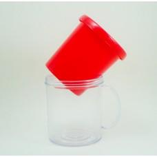 Caneca Acrílica para foto com 50 unidades - Vermelho