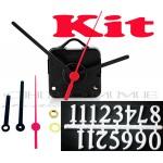 Kit 10 Maquinas De Relógio 13 m.m + Ponteiros Palitos + Números Arábicos Brancos