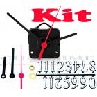 Kit 10 Maquinas De Relógio 17 m.m + Ponteiros Palitos + Números Arábicos Pratas