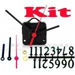 Kit 10 Maquinas De Relógios Contínuo 17 m.m + Ponteiro Palito + Números Arábicos
