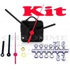 Kit 10 Maquinas De Relógios 19 m.m + Ponteiro Palito + Números Arábicos Bola Pratas