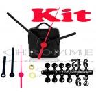 Kit 10 Maquinas De Relógios 22 m.m + Ponteiro Palito + Números Arábicos Bola
