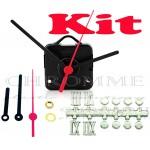 Kit 10 Maquinas De Relógios 22 m.m + Ponteiro Palito + Números Romanos Bola Prata