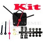 Kit 10 Maquinas De Relógios 13 m.m + Ponteiro Palito + Números Romanos Bola