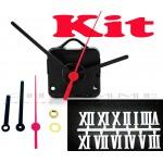 Kit 10 Maquinas De Relógio 22 m.m + Ponteiros Palitos + Números Romanos Brancos