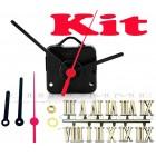 Kit 10 Maquinas De Relógio 17 m.m + Ponteiros Palitos + Números Romanos Dourados