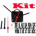 Kit 10 Maquinas De Relógios Contínuo 13 m.m + Ponteiro Palito + Números Romanos