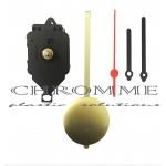 Kit 5 Máquinas De Relógio De Pendulo Completa + Ponteiro Palitos