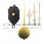 Kit 6 Máquinas De Relógio De Pendulo Completa + Ponteiro Colonial Dourado