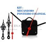 Kit 5 Maquinas De Relógios 19 m.m + 5 Ponteiros Coloniais