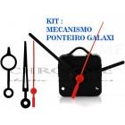 10 Maquinas De Relógios 13 m.m + 10 Ponteiros Exclusivos Galaxi