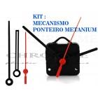 Kit 10 Maquinas De Relógio 17 m.m + 10 Ponteiros Grande Metanium