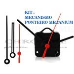 Kit 10 Maquinas De Relógio 13 m.m + 10 Ponteiros Grande Metanium