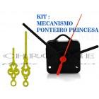 10 Maquinas Para Relógios 13 m.m + 10 Ponteiros Princesa Grandes Dourados