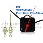 10 Maquinas Para Relógios 17 m.m + 10 Ponteiros Princesa Grandes Pratas