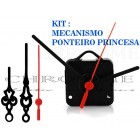5 Maquinas Para Relógios 13 m.m + 5 Ponteiros Princesa Grandes