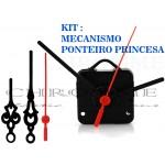5 Maquinas Para Relógios 19 m.m + 5 Ponteiros Princesa Grandes