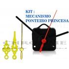 10 Maquinas Para Relógios 17 m.m + 10 Ponteiros Princesa Medio Dourados
