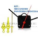 10 Maquinas Para Relógios 19 m.m + 10 Ponteiros Princesa Medio Dourados