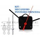 10 Maquinas Para Relógios 13 m.m + 10 Ponteiros Princesa Médio Prata
