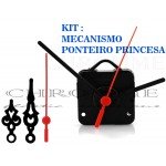 5 Maquinas Para Relógios 17 m.m + 5 Ponteiros Princesa Medio