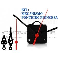 10 Maquinas Para Relógios 17 m.m + 10 Ponteiros Princesa Medio