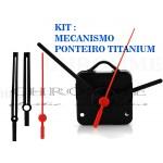 Kit 10 Maquinas De Relógio 17 m.m + 10 Ponteiros Grande Titanium