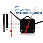 Kit 10 Maquinas De Relógio 17 m.m + 10 Ponteiros Grande Vanadium