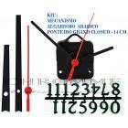 Kit 10 Maquinas De Relógio 13 m.m + Ponteiros Grand Closed + Numeros Arabicos
