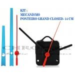 10 Maquinas De Relógio 22 m.m + Ponteiros Grand Closed Azul