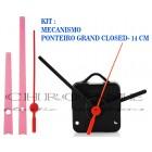 10 Maquinas De Relógio 13 m.m + Ponteiros Grand Closed Rosa