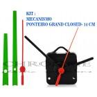 10 Maquinas De Relógio 13 m.m + Ponteiros Grand Closed Verde