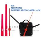 10 Maquinas De Relógio 17 m.m + Ponteiros Grand Closed Vermelho