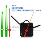 10 Maquinas De Relógio 17 m.m + Ponteiros Grand Open Verde