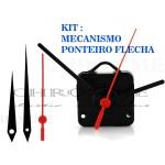 Kit 5 Maquinas De Relógios 19 m.m + 5 Flechas