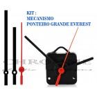 Kit 10 Maquinas de Relógio 19 m.m + Ponteiros Everest