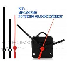 Kit 10 Maquinas de Relógio 13 m.m + Ponteiros Everest