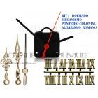 10 Maquinas 13 m.m + 10 Ponteiros Coloniais + 10 Numeros Romanos Dourado -