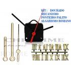 Kit 10 Maquinas 19 m.m + 10 Ponteiros Palitos + 10 Números Romanos -Dourados-