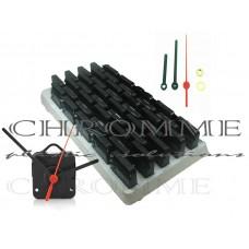 Mecanismo para relógio eixo 19 mm ( 10 mm rosca ) - Com alça - Embalagem com 25 unidades