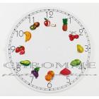 Mostrador Para Relógio 215 m.m - Redondo  Modelo FRUTAS - EMBALAGEM COM 10 UNIDADES