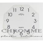Mostrador Para Relógio Oitavado com Verniz Localizado 23 X 23 cm -  Branco  - EMBALAGEM COM 10 UNIDADES