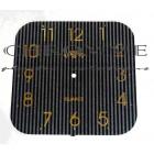 Mostrador Para Relógio com Verniz Localizado 22 X 22 cm -  Preto / Dourado - EMBALAGEM COM 10 UNIDADES
