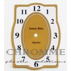 Mostrador Para Relógio Retangular 17 X 12 cm - Branco / Dourado - EMBALAGEM COM 10 UNIDADES