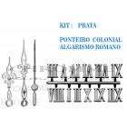 10 Números Romanos Para Relógios + 10 Kits De Ponteiros Coloniais Pratas